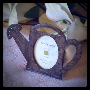 Vintage Metal Watering Can Shaped Picture Frame